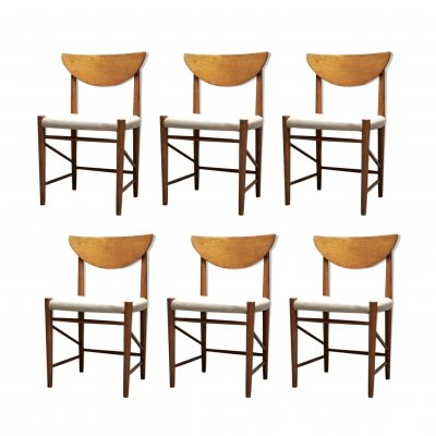 Set of 6 Teak Model 316 dining chairs by Peter Hvidt & Orla Mølgaard Nielsen for Søborg Møbelfabrik