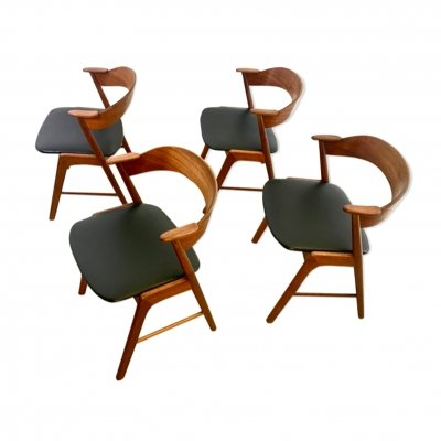 Set of 4 Danish MidCentury Dining Chairs by Kai Kristiansen, 1960s