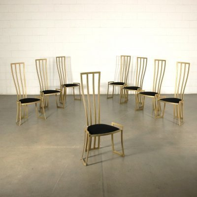Set of 8 Chairs by Marzio Cecchi, 1980s