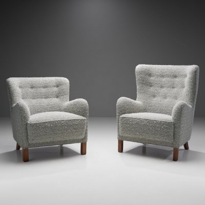 High- & Low Back Lounge Chairs by Danish Cabinetmaker, Denmark 1940s