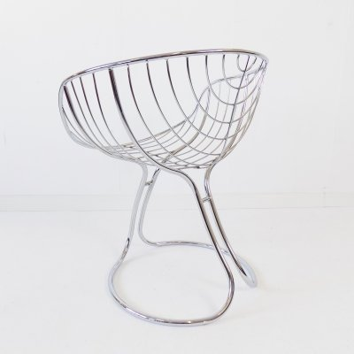 Rima Pan Am chrome dining chair by Gastone Rinaldi, 1960s
