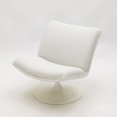 Geoffrey Harcourt for Artifort F504 swivel lounge chair in bouclé, 1960s
