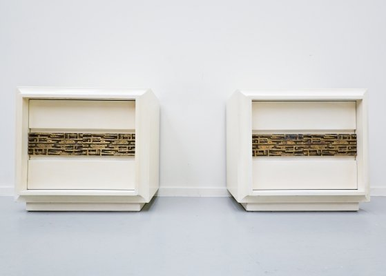 Pair of Luciano Frigerio Nightstands, 1970s