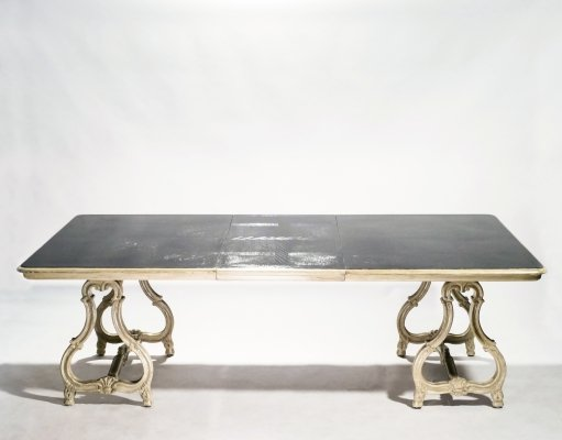 Early XXth century stamped Maison Jansen Regence dining table