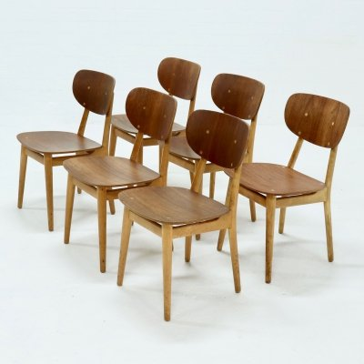 Set of 6 Pastoe SB13 dining chairs by Cees Braakman, 1950s