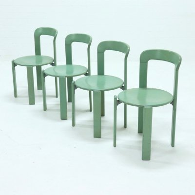 Set of 4 Dining Chairs by Bruno Rey for Kusch+Co, 1970s