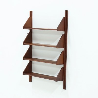 OMF Elementa Wall Mounted Teak Shelving Unit, 1960s