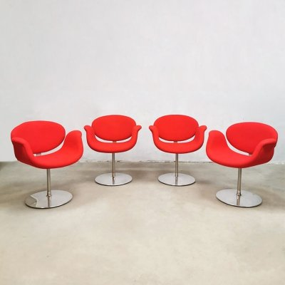Set of 4 Vintage 'little tulip' office chairs by Pierre Paulin for Artifort