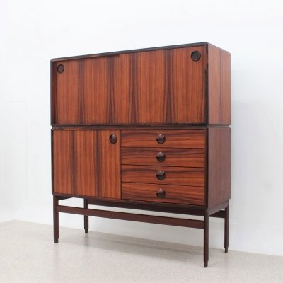 Mid century rosewood modular cabinet by Mobili Besana, 1960s