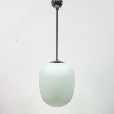 Model Düren opaline pendant lamp by Wilhelm Wagenfeld, Germany 1950s