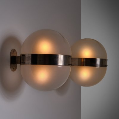 Pair of Sergio Mazza Clio wall lamps by Artemide, Italy 1960s