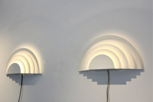 4 Pair of Graphical Meander Sconces by Cesare Casati & Emanuele Ponzio for RAAK