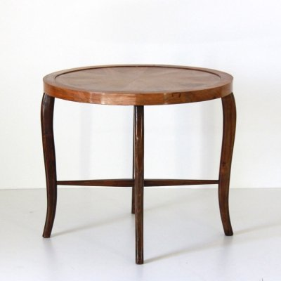 1930s art deco inlaid side table