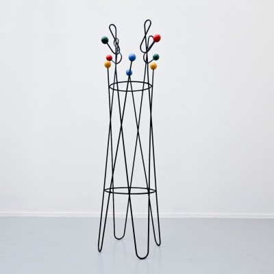 Coat Rack 'Clef De Sol' by Roger Feraud, 1950s