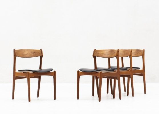 Set of 4 dining chairs 'model 49' by Erik Buch for O.D. Møbler, Denmark 1960s