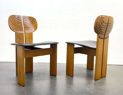 Pair of 'Africa' Artona Series Dining Chairs by Afra & Tobia Scarpa for Maxalto