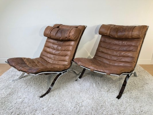 Matching pair of Arne Norell Ari Easy Chairs, 1970's