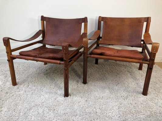 Arne Norell 'Sirocco' Brazilian Rosewood easy chairs, 1971