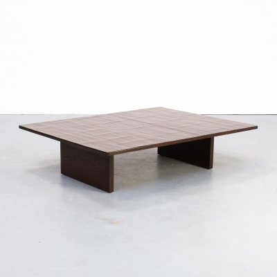 70s lacquered bamboo coffee table
