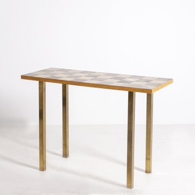 Ross Littell American Console in brass, 1950s