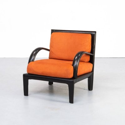 80s Leather Lounge fauteuil for Roche Bobois