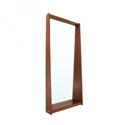 Rectangular mirror with teak frame, 1950s