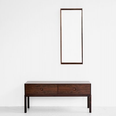 Midcentury Danish chest & mirror in rosewood by Aksel Kjersgaard