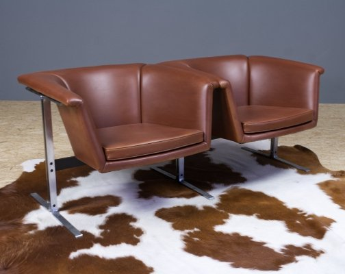 Faux leather sofa or bench by Geoffrey Harcourt model 042 for Artifort, 1963