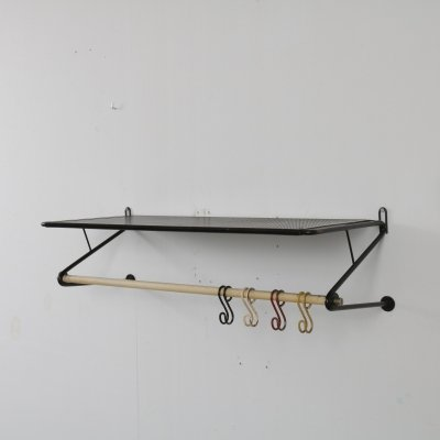 Perforated metal coat rack by Mathieu Matégot, France 1950s
