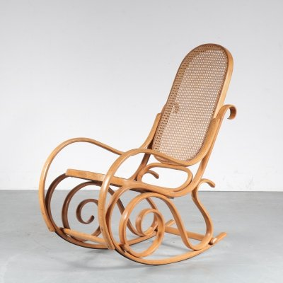 Bentwood rocking chair by Thonet, France 1950s