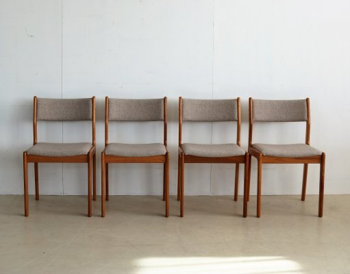 Set of 4 dining chairs by Erik Buch for Findahls Møbelfabrik, 1960s