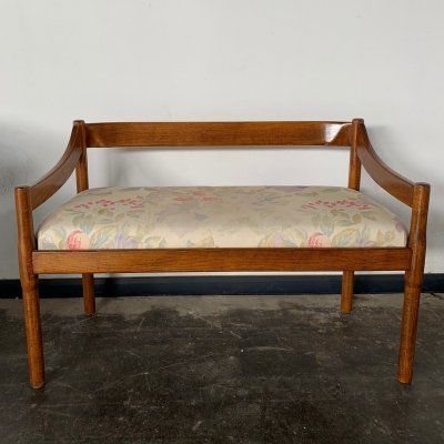 Italian midcentury wooden Bench by Vico Magistretti for Cassina