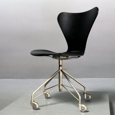 First Edition Chair 3117 by Arne Jacobsen for Fritz Hansen, 1950s