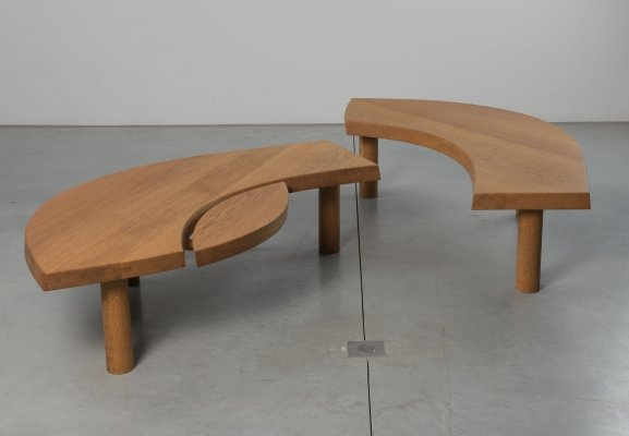 Pierre Chapo T22 l'oeil coffee table in oak