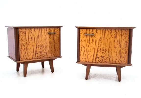 Two midcentury bedside tables, 1950s