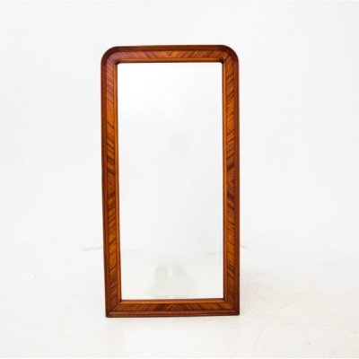 Walnut mirror, Northern Europe circa 1920