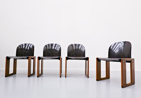 Set of 4 Dialogo Chairs by Afra & Tobia Scarpa for B&B Italia, 1973