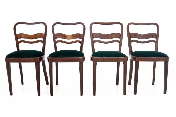 Set of 4 Art Deco chairs, Poland 1960s