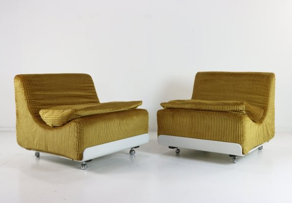 Pair of Orbis lounge chairs by Luigi Colani for COR, 1970s