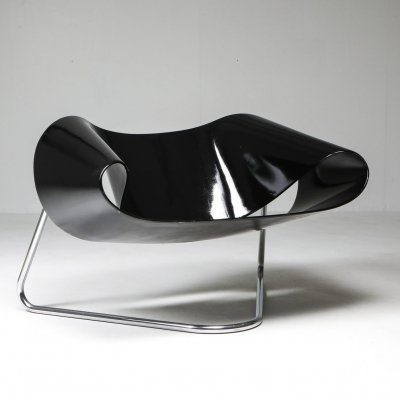 Black Ribbon chair by Franca Stagi for Bernini, 1961