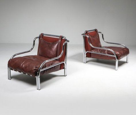 Gae Aulenti 'Stringa' Pair of Armchairs, 1962