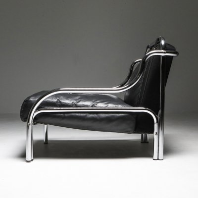 Gae Aulenti 'Stringa' Armchair in Black, 1960's