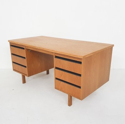 Dutch design oak desk by Eeka, 1970's