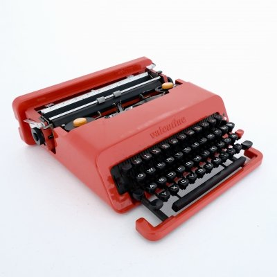 Valentine portable typewriter with box by Ettore Sottsass & Perry King