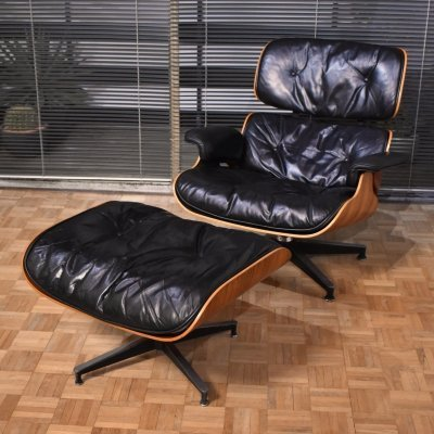 Vintage Eames Lounge Chair & Ottoman for Herman Miller