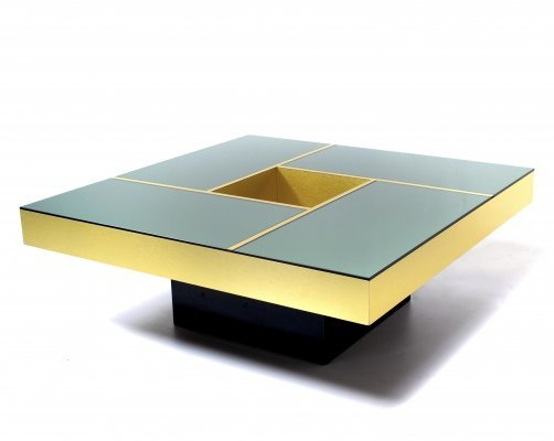 Mirror coffee table 'Shilling' by Ausenda & Grossi, Italy 1970s