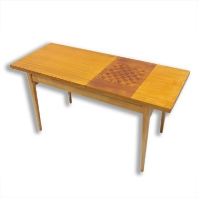 Mid century coffee table with chess pattern by Hikor Písek, Czechoslovakia 1960's