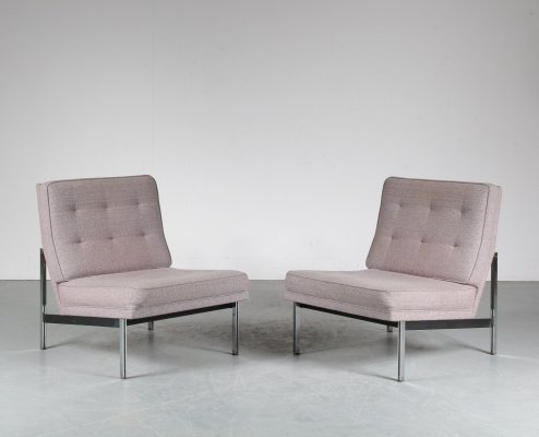 Pair of Parallel Bar lounge chairs by Florence Knoll for Knoll, 1960s