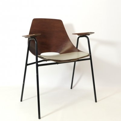 Bridge chair by Pierre Guariche for Steiner, 1950s