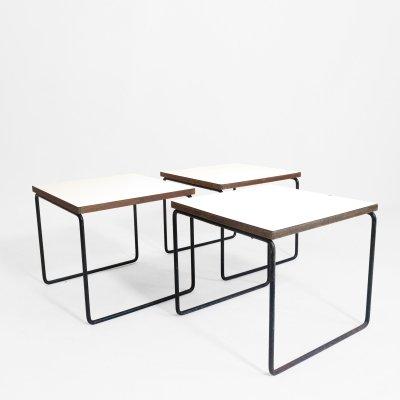 Pierre Guariche white side table for Steiner, 1955
